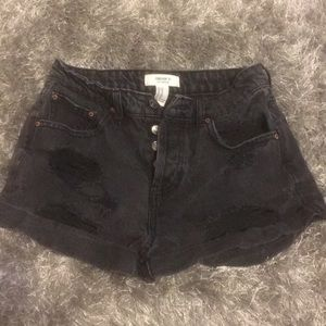 Forever 21 high waisted black jean shorts 26